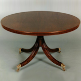 T.80 48 inch diameter Table (available in various woods - shown here in Mahogany). Placing's 4 - 6.
